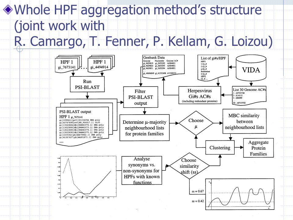 Whole HPF aggregation methods structure (joint work with R.