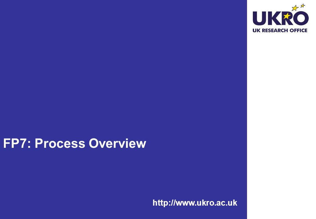 http://www.ukro.ac.uk FP7: Process Overview