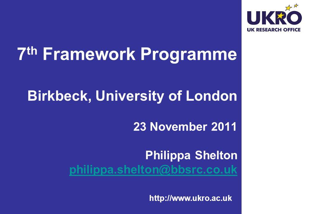 http://www.ukro.ac.uk FP7 Co-operation: Socio-economic Sciences and Humanities