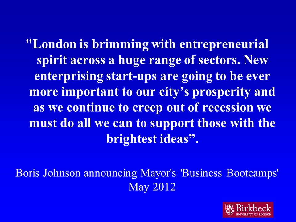 London is brimming with entrepreneurial spirit across a huge range of sectors.