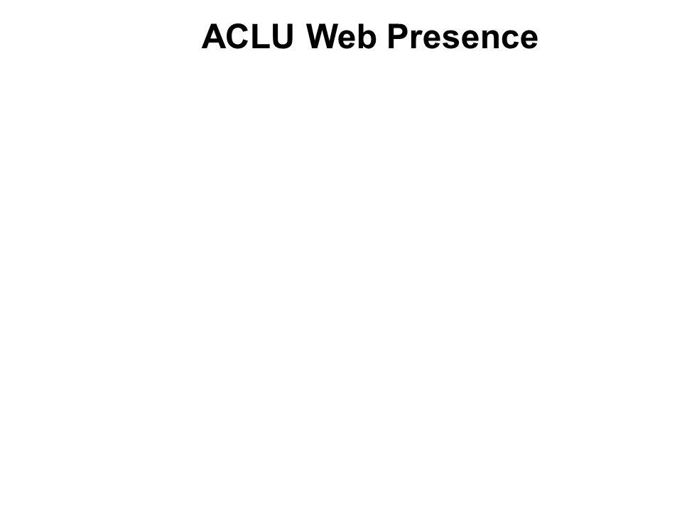 ACLU Web Presence