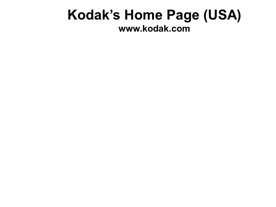 Kodaks Home Page (USA) www.kodak.com