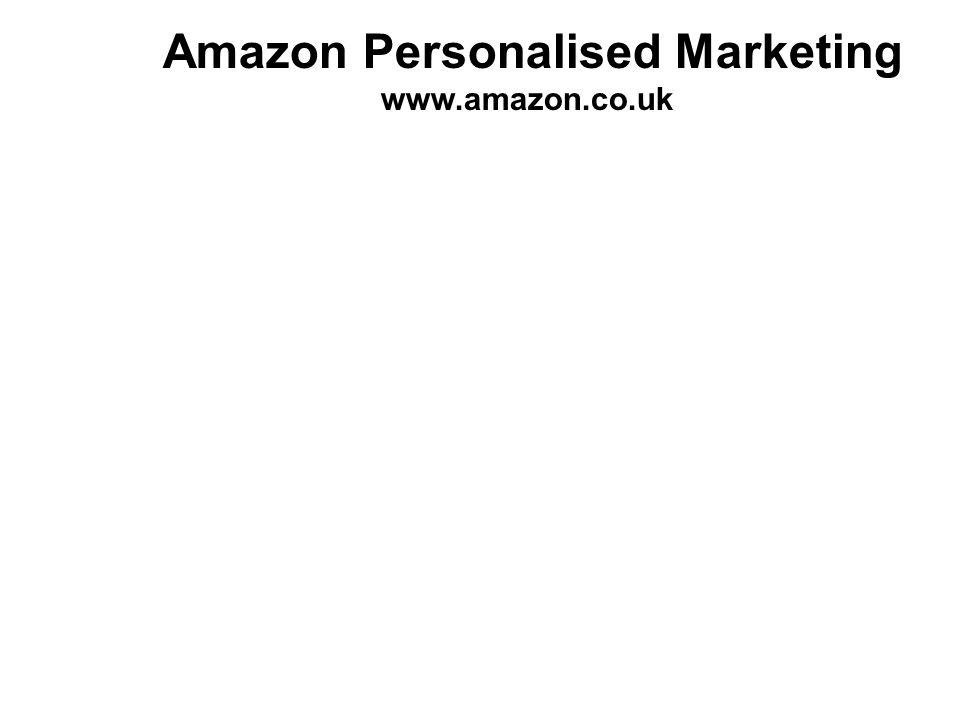 Amazon Personalised Marketing www.amazon.co.uk