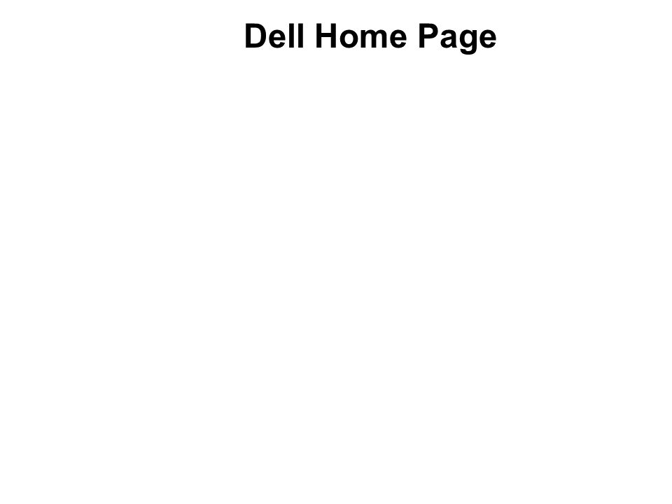 Dell Home Page