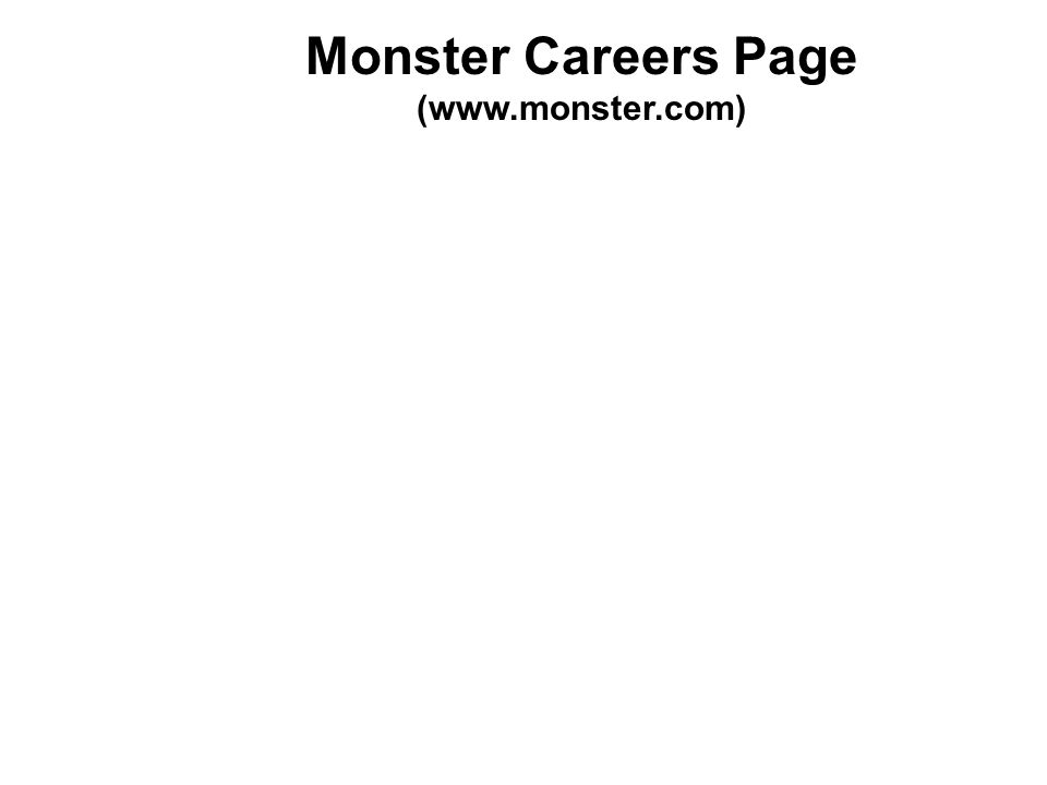 Monster Careers Page (www.monster.com)