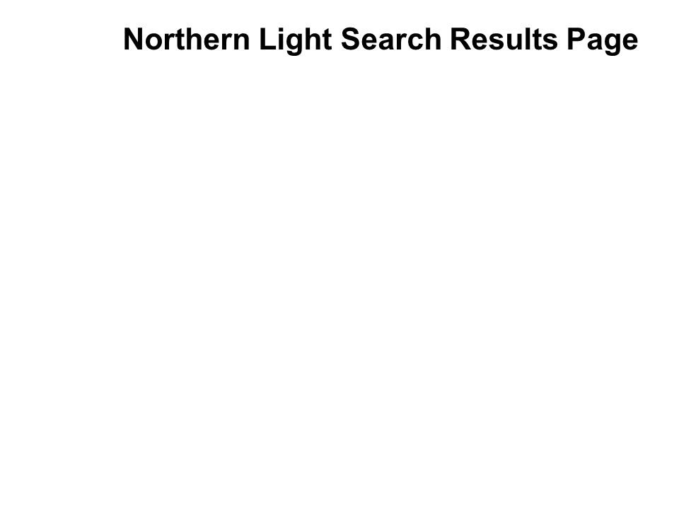 Northern Light Search Results Page
