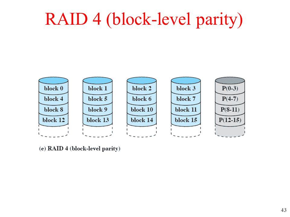 43 RAID 4 (block-level parity)