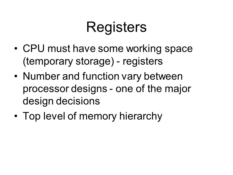 Data Flow (Interrupt) Current PC saved to allow resumption after interrupt Contents of PC copied to MBR Special memory location (e.g., stack pointer) loaded to MAR MBR written to memory according to content of MAR PC loaded with address of interrupt handling routine Next instruction (first of interrupt handler) can be fetched