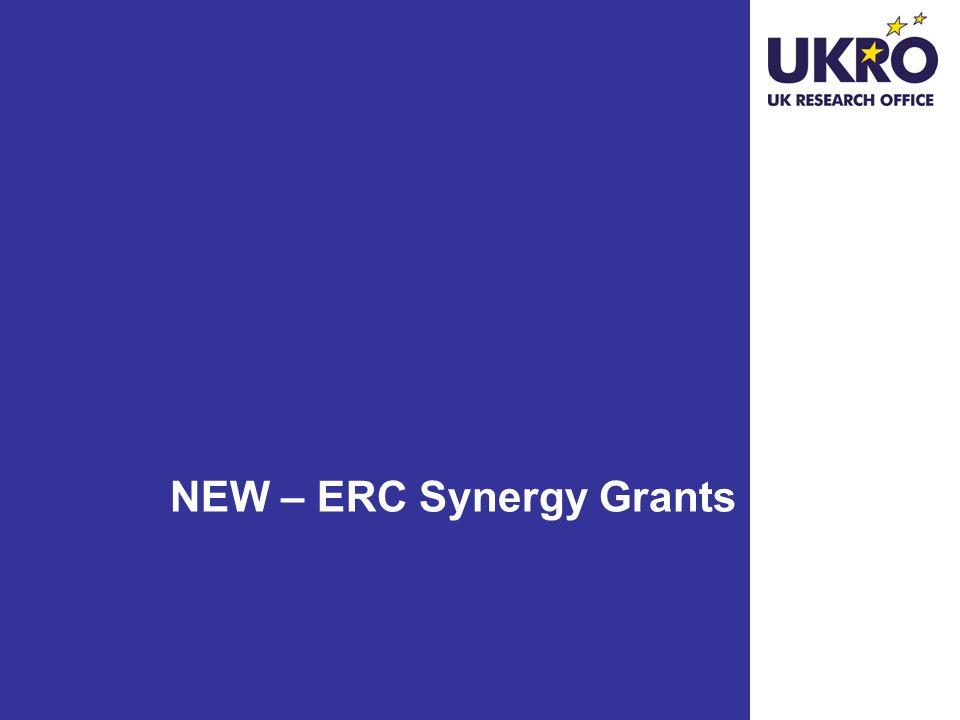 NEW – ERC Synergy Grants