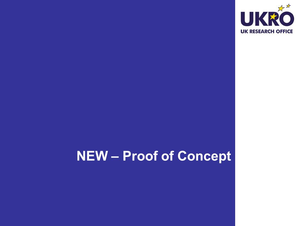 NEW – Proof of Concept