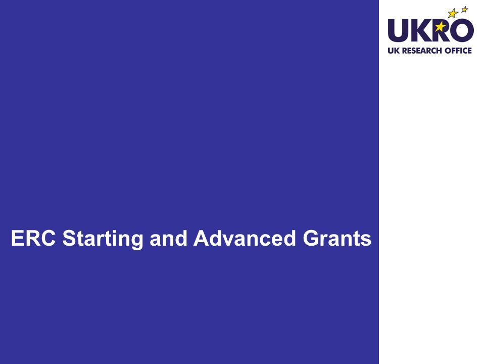 ERC Starting and Advanced Grants