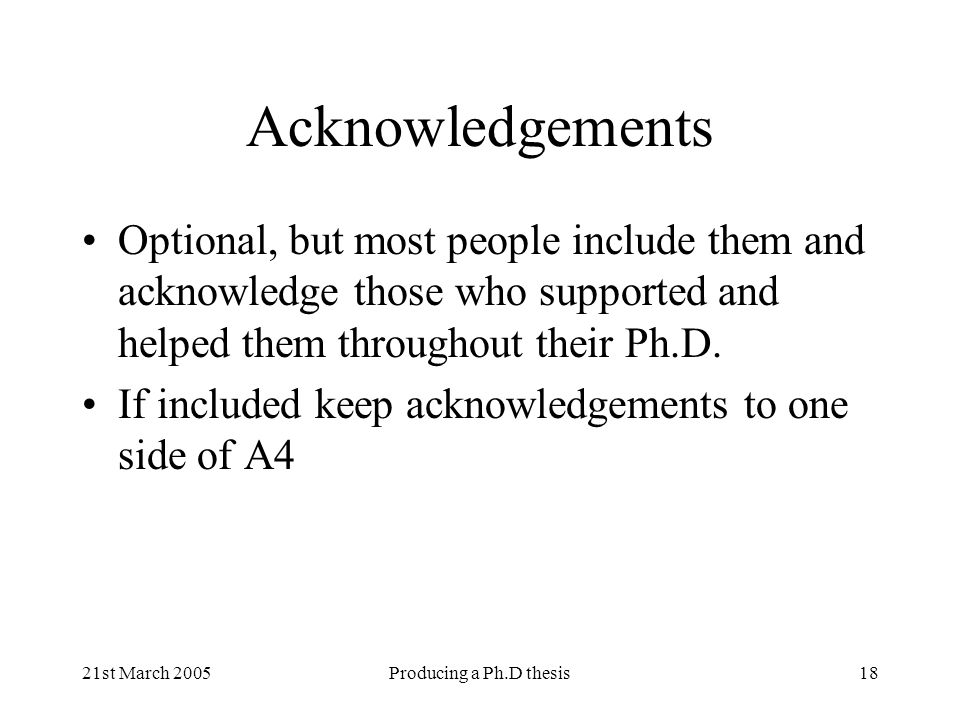 acknowledgement for ph.d. thesis Example of acknowledgement for thesis pdf - free download as pdf file (pdf) example of acknowledgement for thesis pdf complete my phd thesis under his.