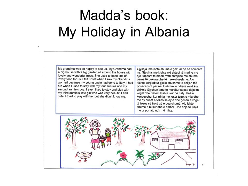 Maddas book: My Holiday in Albania