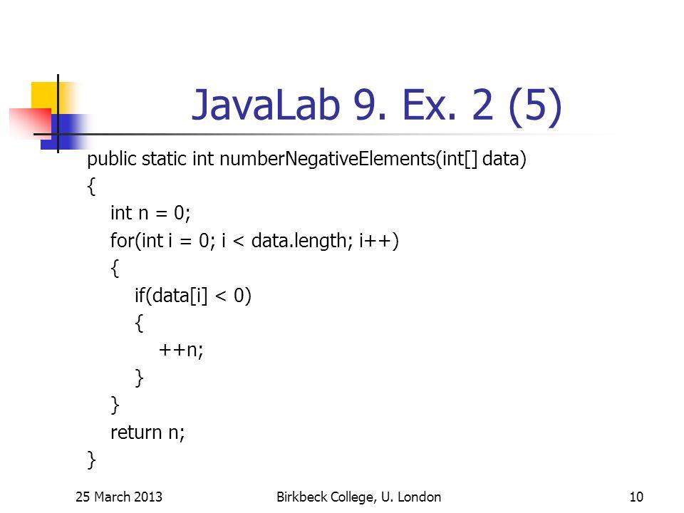 JavaLab 9. Ex.