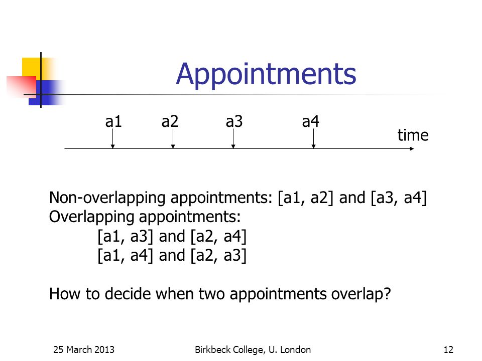 Appointments 25 March 2013Birkbeck College, U.