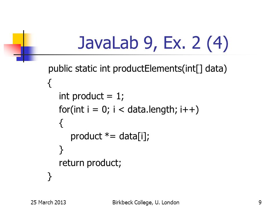 JavaLab 9, Ex.
