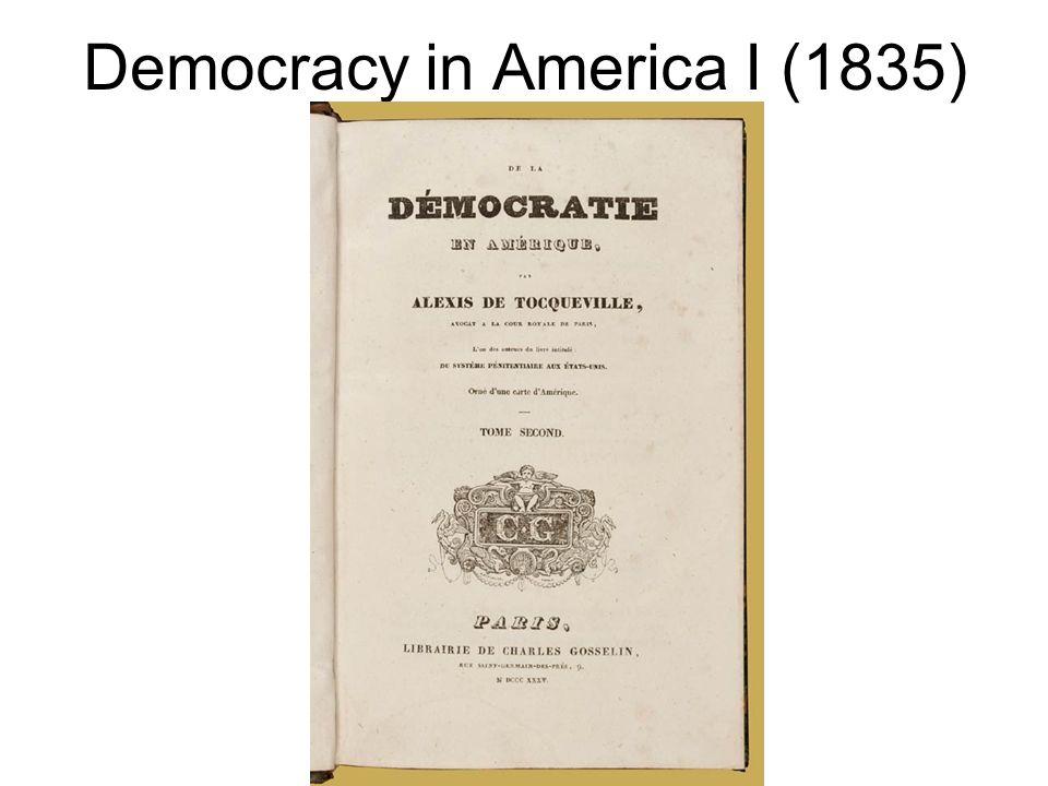 Democracy in America I (1835)