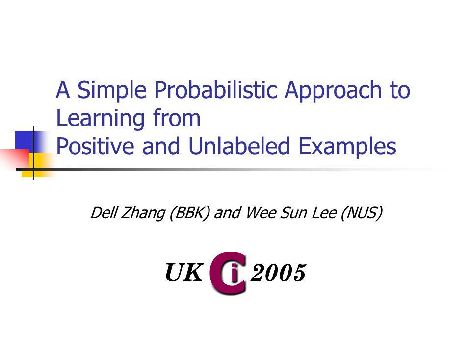 Problem Supervised Learning