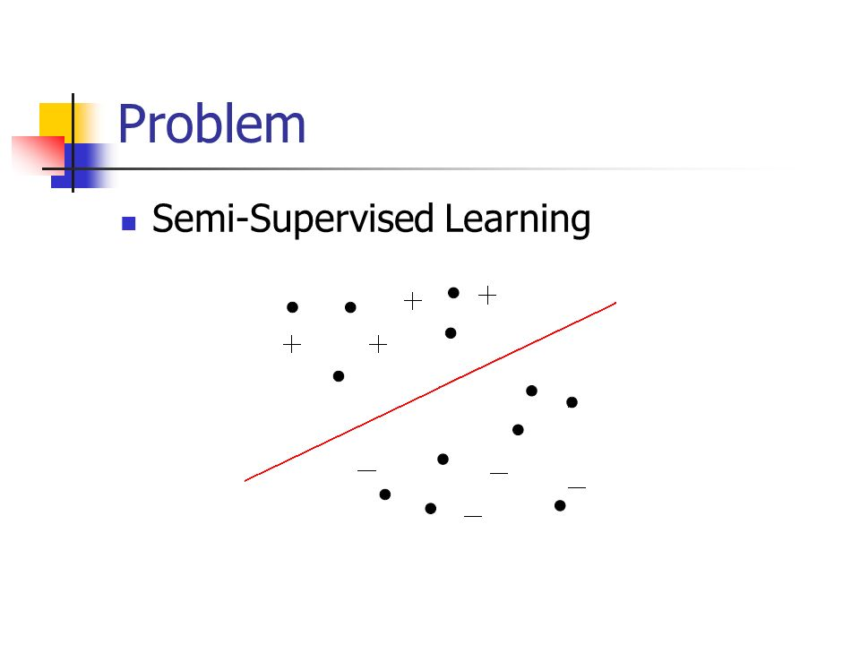 Problem Semi-Supervised Learning