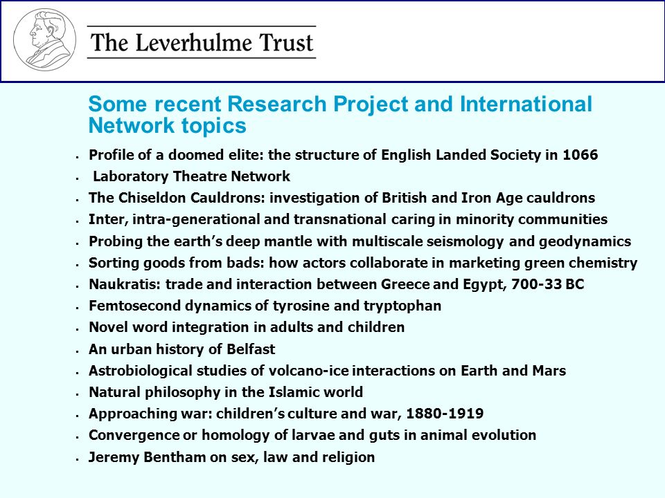 Profile of a doomed elite: the structure of English Landed Society in 1066 Laboratory Theatre Network The Chiseldon Cauldrons: investigation of Britis