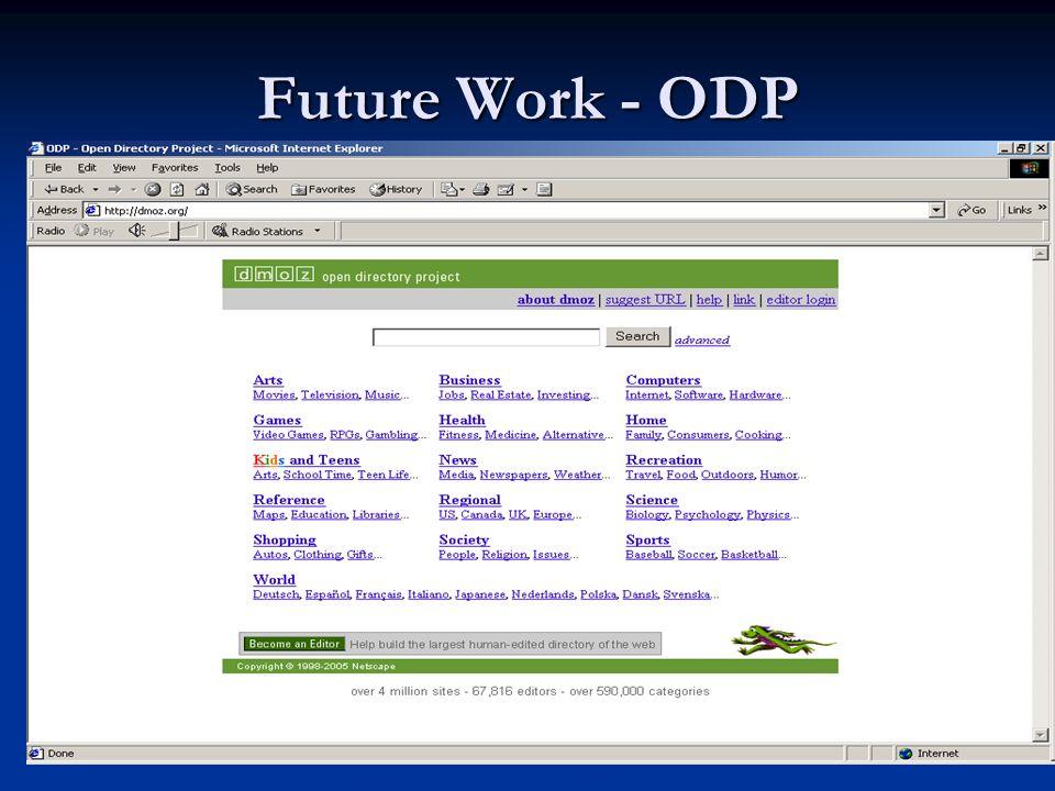 Future Work - ODP