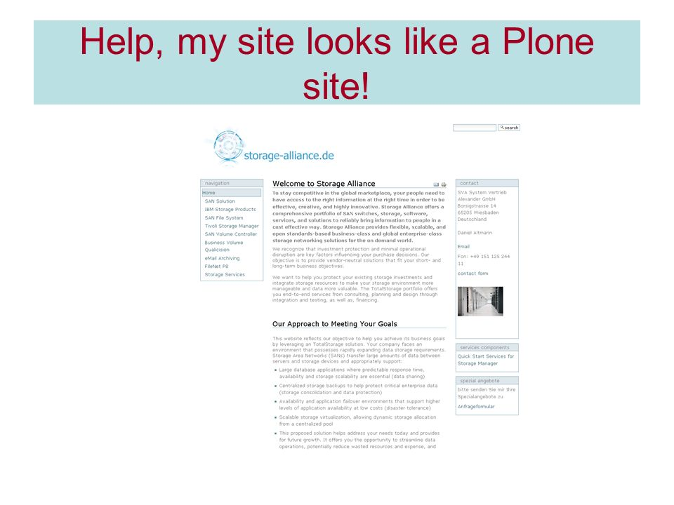 Help, my site looks like a Plone site!