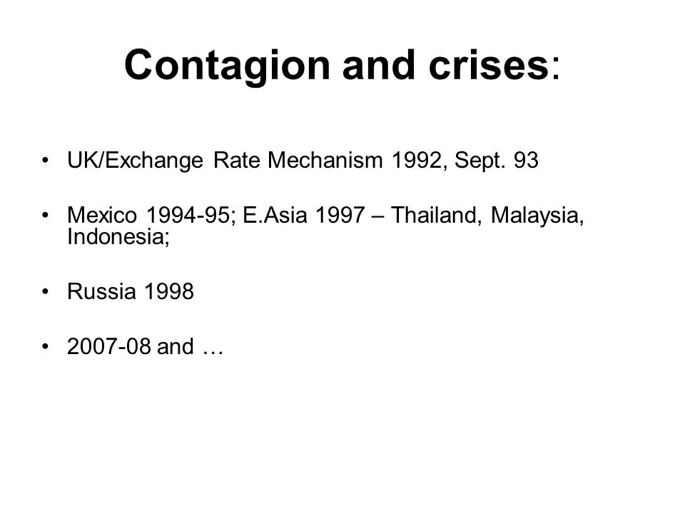 Contagion and crises: UK/Exchange Rate Mechanism 1992, Sept.