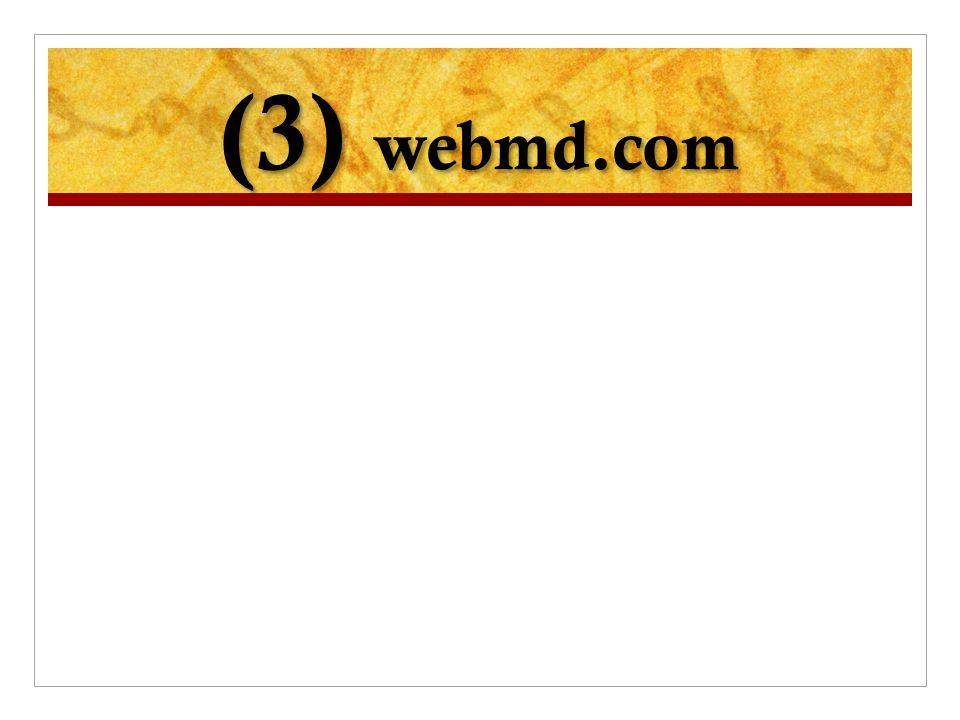(3) webmd.com