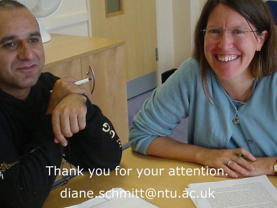 Thank you for your attention. diane.schmitt@ntu.ac.uk