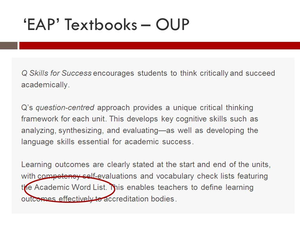 EAP Textbooks - Pearson