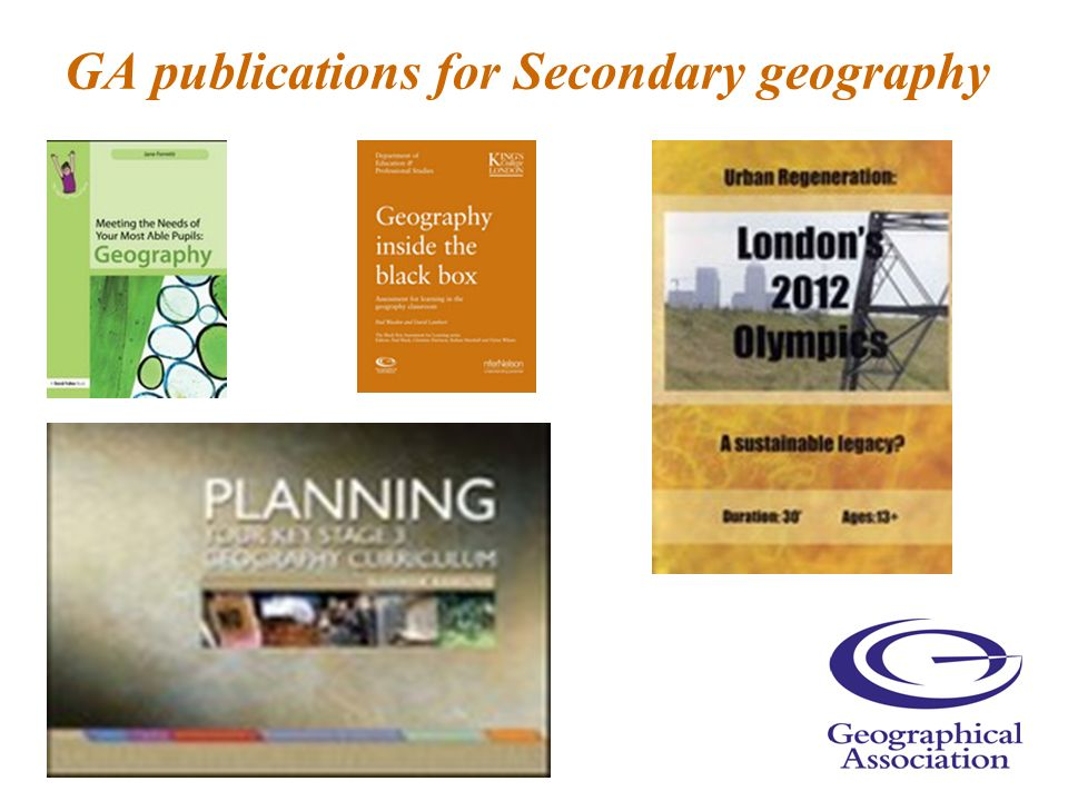 GA publications for Secondary geography