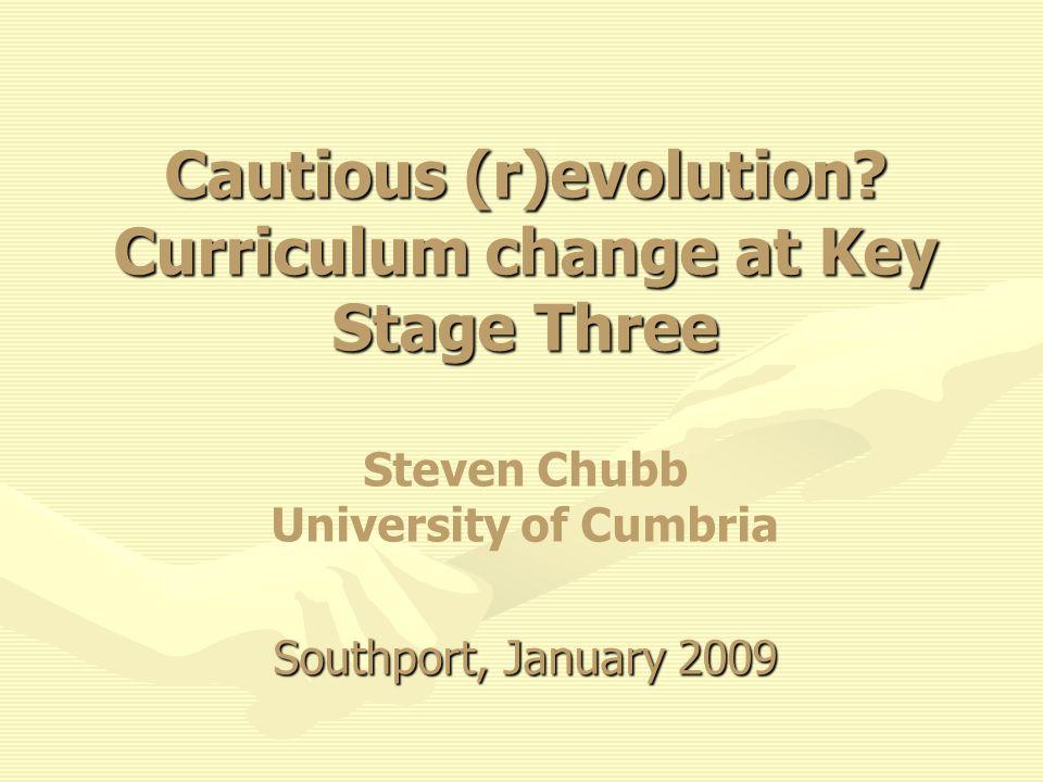Cautious (r)evolution.