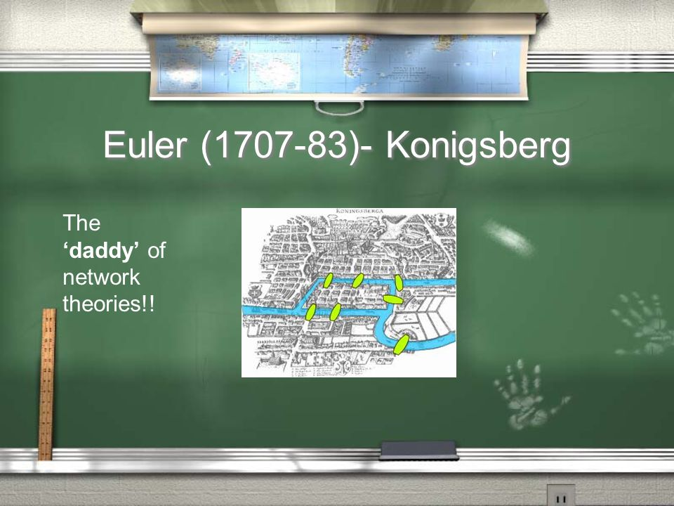 Euler (1707-83)- Konigsberg The daddy of network theories!!
