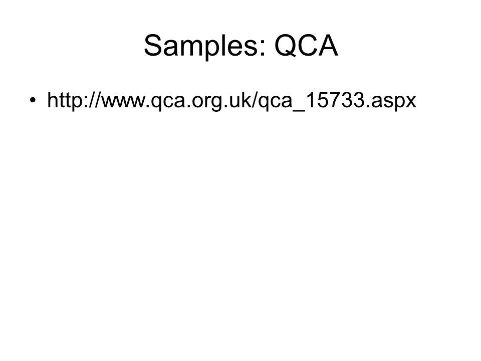 Samples: QCA http://www.qca.org.uk/qca_15733.aspx