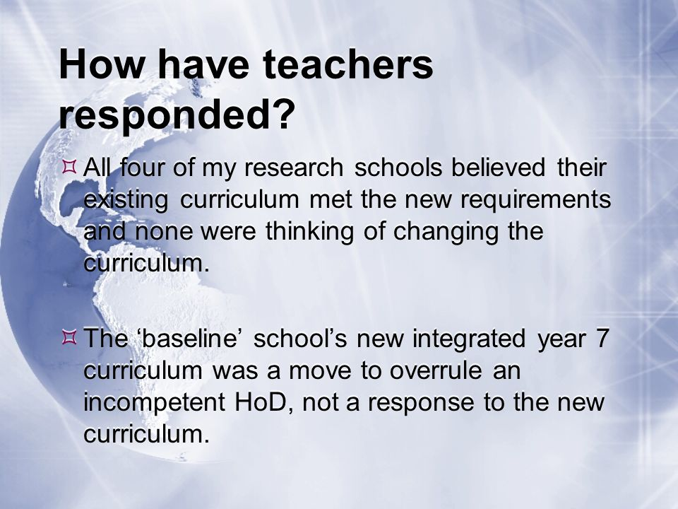 How have teachers responded.