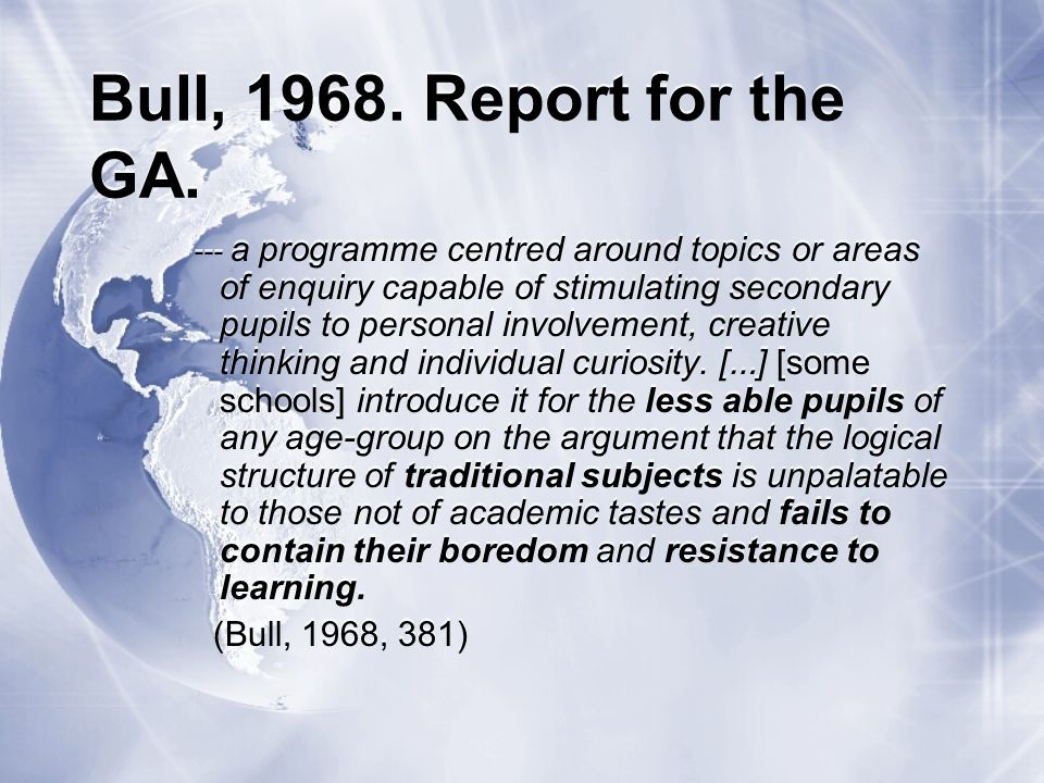 References Bull, G.B.G.