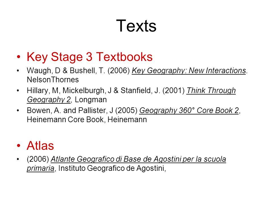 Texts Key Stage 3 Textbooks Waugh, D & Bushell, T.