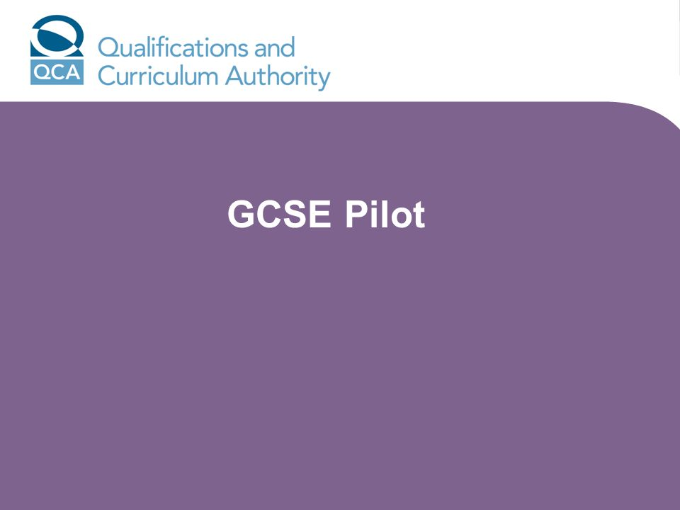 GCSE Pilot