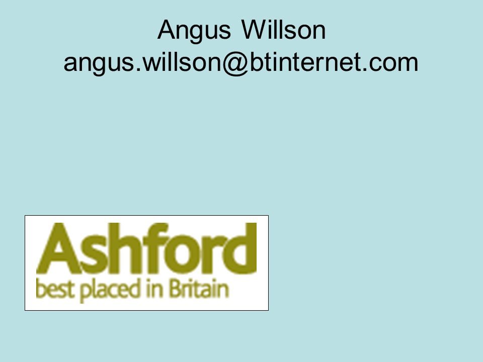 Angus Willson angus.willson@btinternet.com