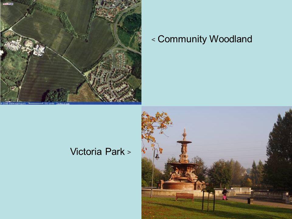 < Community Woodland Victoria Park >