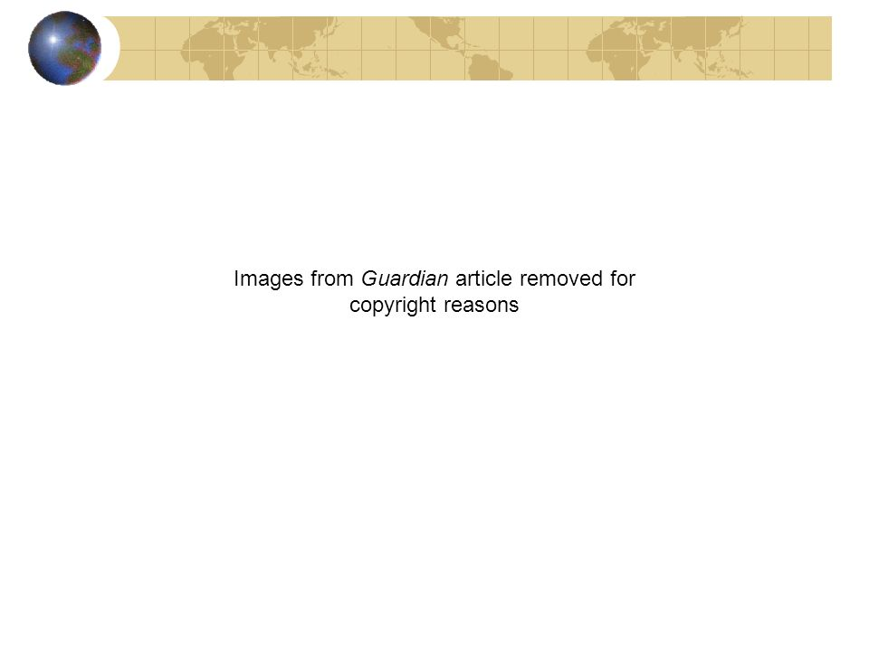 Images from Guardian article removed for copyright reasons