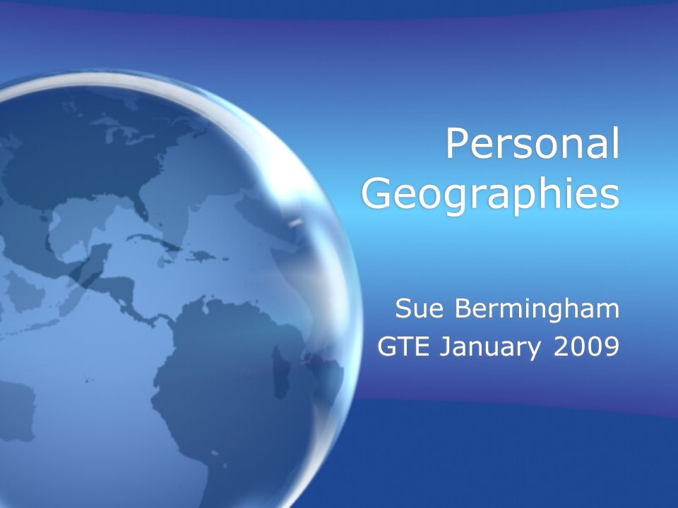 My PhD proposal How do trainee geography teachers build upon pupils personal geographies.