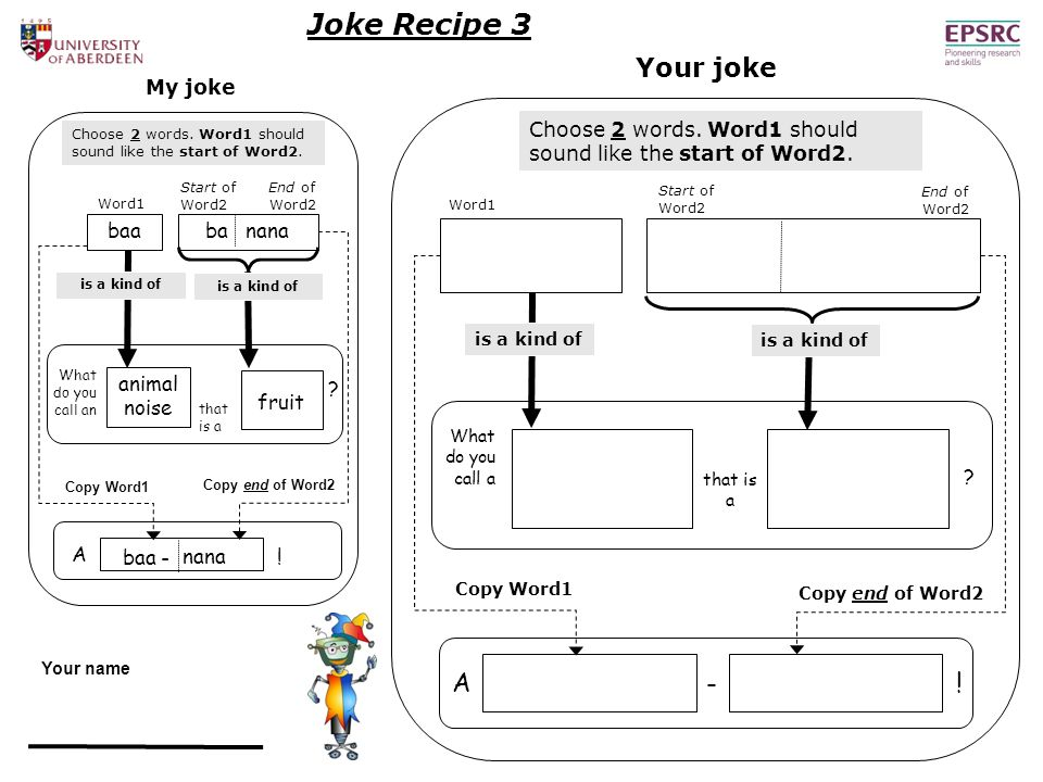End of Word2 Joke Recipe 3 A .