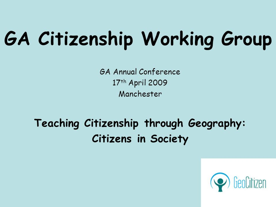 Key Questions How are the active citizen and society narrated in the geography and citizenship curricula.