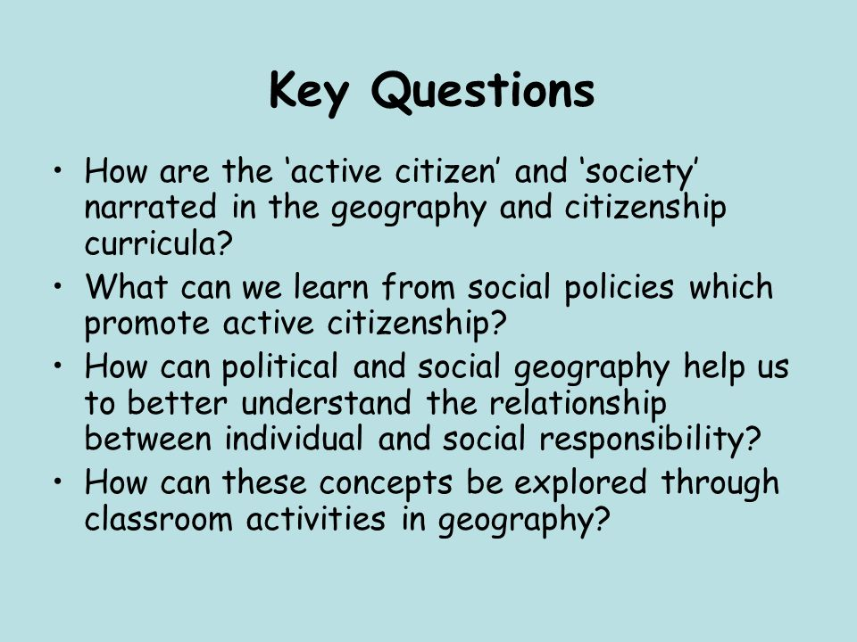 Citizenship: how responsible are we.