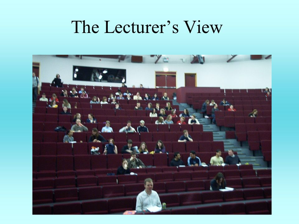 The Lecturers View