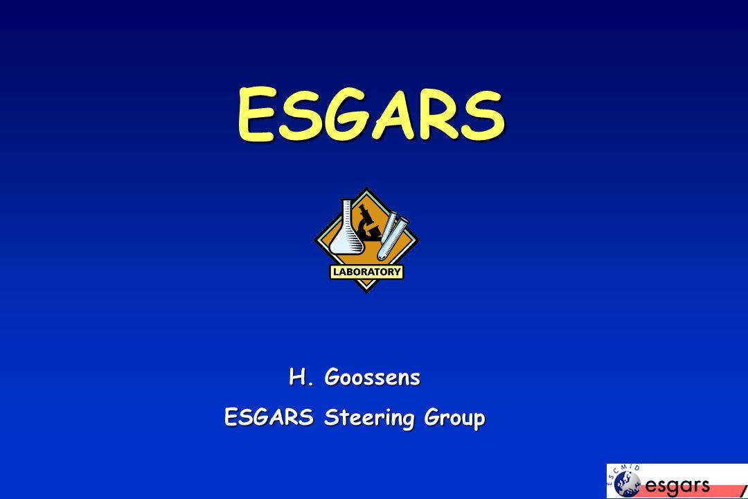 ESGARS H. Goossens ESGARS Steering Group