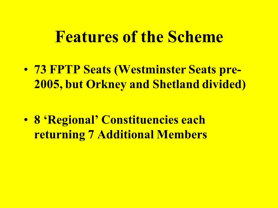 AMS has a number of variations In some cases the two elements are not linked The proportion of AM to FPTP seats vary The AMs may be distributed at a N