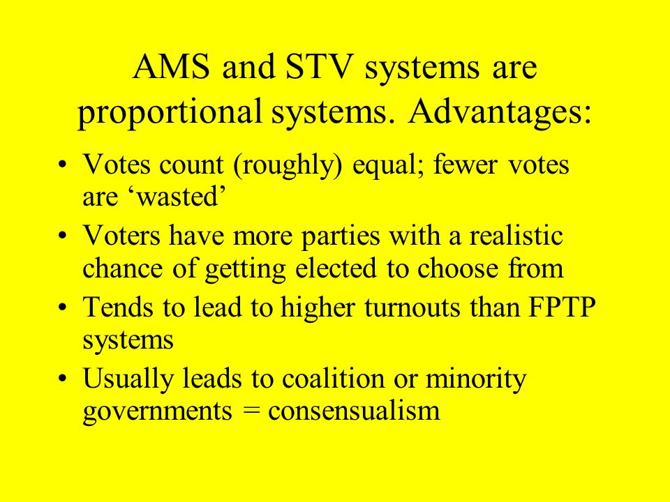 STV allows…..a significant extent of personal voting The direct personal link between voters and their representatives, however, is not as strong as i