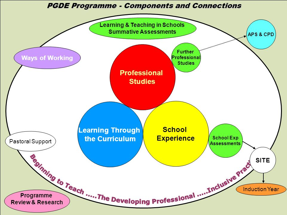 www.abdn.ac.uk/sras PGDE Programme - Components and Connections Learning Through the Curriculum School Experience Professional Studies Further Profess